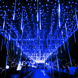 Christmas Party Led Lights Meteor Shower Rain Snowfall Icicle Garden Waterproof