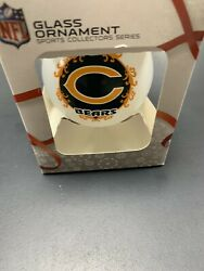 Chicago Bears Nfl Glass Ornament Christmas Ball Forever Collectibles
