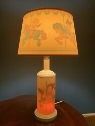 1983 Cabbage Patch Kids Lamp With Shade Merry Go Round Horse Design