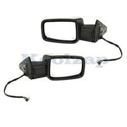 13-19 Ram 1500 Truck W/o Towing Mirror Power W/signal And Puddle Lamp Set Pair