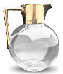 Dr. Christopher Dresser Sterling And Glass Claret Jug By Hukin And Heath London 1885