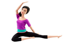 Asian Barbie Doll Made To Move Purple Top Yoga Moves Realistic Look Kid Play Toy
