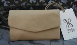 Hobo International LACY Leather Trifold Compact Wallet PARCHMENT TAN NWT $68 $39.95