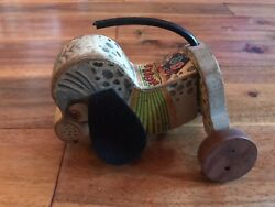 Fisher Price Nosey Dog Kids Children Wood Pull Toy No.445. 1950's