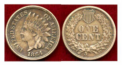 1864 1c First Style Copper Nickel-- Indian Head Cent++