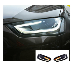 For Audi A4 Led Headlights Led Drl 2013-2016 Replace Oem Headlight Sequential