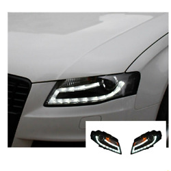 For Audi A4 Led Headlights Led Drl 2008-2012 Replace Oem Headlight Sequential