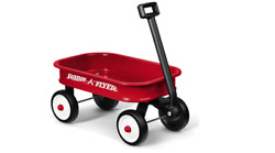 Little Red Wagon Kids Play Outdoor Toy Indoor Rolling Cart Wheels Toys Basket Us