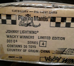 Factory Sealed Case 1996 Johnny Wacky Winners Cars Series 4 301-04 Pack Of 30