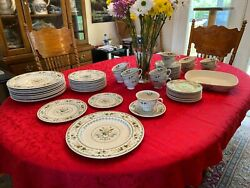 Set Of 6 Vtg Royal Doulton Provencal Pattern 10.5 Dinner Plates Replacements