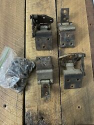 1963 1964 Ford Fairlane 500 Door Hinges Rh Lh Front Upper And Lower W/bolts Fomoco