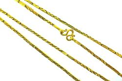 Vintage 22k Yellow Gold Chain Necklace Asian Motif
