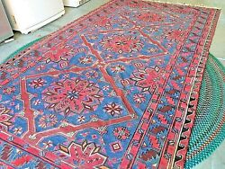 Russian Somak Wool Rug Red/blue - Home Update Vintage Great Condition 6x11