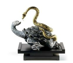 Lladro Rare Retired Mysterious Snake And Turtle Brand New In Box 01008564