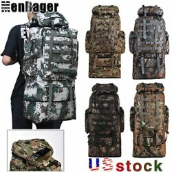 100L 90L 80L Outdoor Military Tactical Backpack Camping Hiking Molle Camo Bag US $28.90