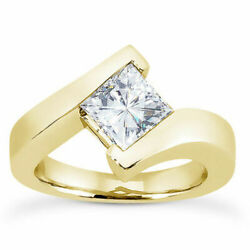 Brilliant Square Moissanite Solitaire Engagement Ring In 14k Yellow Gold Dec-02