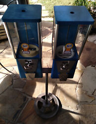 Vintage Astro Ford Dual Double Head Gumball Peanut Vending Machine