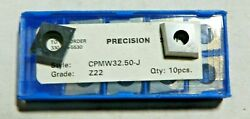 10 Pieces Precision Supply Cpmw 32.50-j Z22 Carbide Inserts  H783