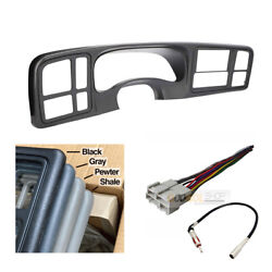 Car Stereo Double Din Dash Install Kit For 1999 - 2002 Gm Trucks And Suvs Gray