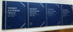 G.b. Whitman Folder Penny Collection 1860-1966 4 Folders Total 116 Coins