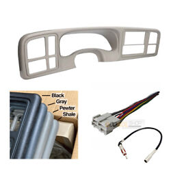 Car Stereo Double Din Dash Install Kit For 1999 - 2002 Gm Trucks And Suvs Shale
