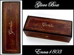 Antique French Rosewood And Marquetry Glove Box Nap Iii Period