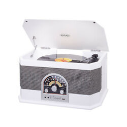 Trevi Tt1040bt Record Player 33 45 78 Rpm Stereo Usb Aux In Bluetooth Radio Am