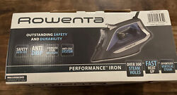 Rowenta 1725 Watt Steam Iron Stainless Steel Soleplate Perform Auto Off