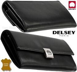 Delsey Womenand039s Wallet Volupte Purse Leather Wallet Black