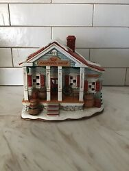 🎄🎅🏻🤶🏻lefton Christmas Colonial Village-cooper's Shop-hand Painted🎅🏻🎄