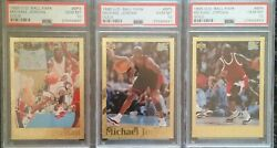 1995 Upper Deck Ball Park Michael Jordan Gold Lot B3 B4 B5 Psa Gem Mint 10