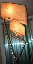 Great Mid Century Majestic Atomic Boomerang Mcm Retro Floor Lamp Fiberglas 50and039s.