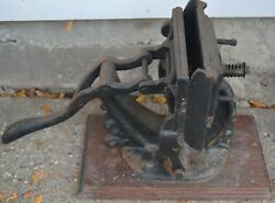 Antique Cast Iron Small Printing Press Business Card Tabletop Baltimore No. 12