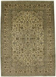 Semi Antique Beige 8x11 Hand Knotted Living Dining Room Oriental Area Rug Carpet