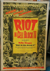 Original Movie Poster Riot In Cell Block 11 1sh 1954 Directed By Don Siegel