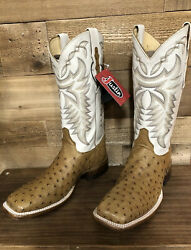 Justin Menandrsquos Square Toe Full Quill Ostrich Boots Made In Usa