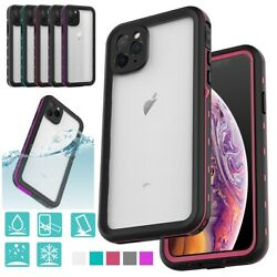 For Iphone 11 12 Pro Max Case Waterproof Shockproof Full Cover 360 Protection