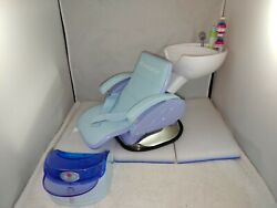 American Girl Doll Furniture Spa Chair Beauty Salon Hair Washing Sink Authentic