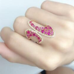 Clearance Nwt 4609 Rare 18kt Gold Rare Fancy Ruby And Diamond Ring Approx 2ct