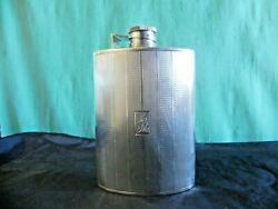 Vintage Sterling Silver Art Deco Whiskey Hip Flask