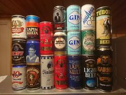 Beer And Soda Cans 34 Cans Box 6