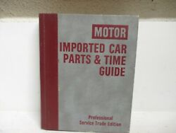 Motor Imported Car Parts And Time Guide