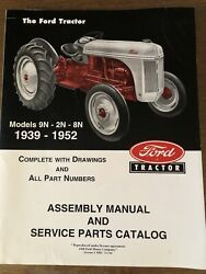 Ford 9n 2n 8n Tractor Assembly Parts Manual Catalog Book View 1939-1952