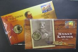 2014 Banjo Patterson + 2017 Henry Lawson 150 Years And039pand039 Mintmark Limited Pncs