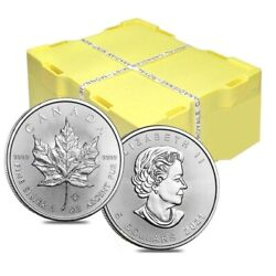 Monster Box Of 500 - 2021 1 Oz Canadian Silver Maple Leaf .9999 Fine 5 Coin Bu