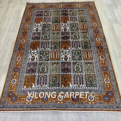 Yilong 4and039x6and039 Handmade Silk Carpet Home Interior Oriental Area Rug 1013c