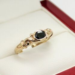 Antique Sapphire Dress Or Engagement Ring, With Beautiful .51ct Natural Blue ...