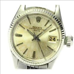 Rolex Oyster Perpetual Date 6517 Cal.1160 Automatic Ladies Kbug5332 Japan Ems