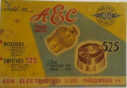 India Vintage Tin Sign Advertisement Board - The Asia Electric Company