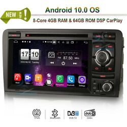 Android 10.0 Bluetooth Car Radio Dvd Stereo Gps Sat Navi Wifi For Audi A3 Rs3 S3